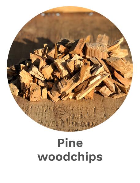 Pine woodchips